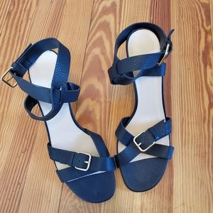 NEW J. Crew Buckle Ankle Strap Mid-Heel Sandals